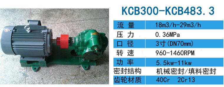 原焦油泵用KCB2500配75kw-6电机压力0.6Mpa-远东泵业示例图4