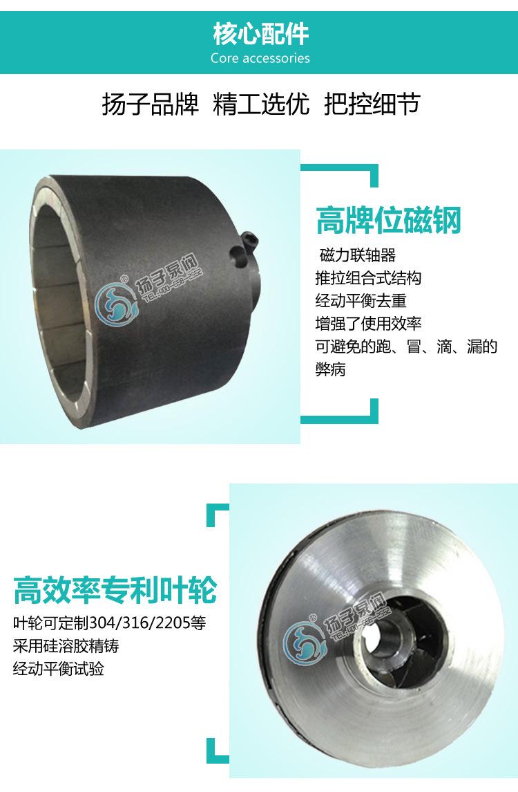50CQ-50磁力循环泵 cq不锈钢防爆食品级医用防腐蚀无泄漏磁力水泵示例图7