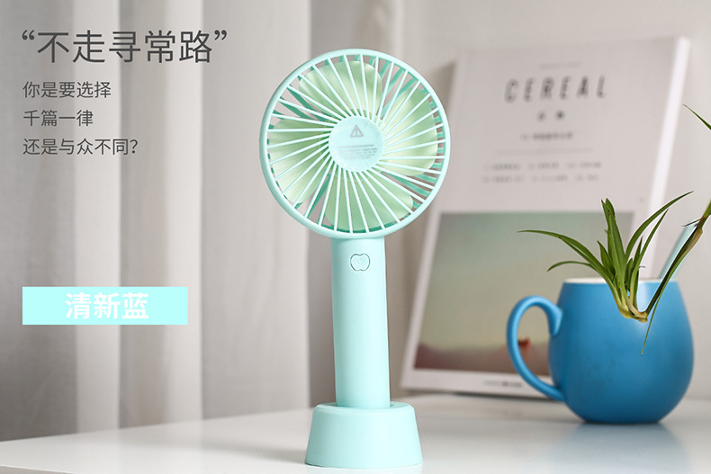 厂家直销夏季手动迷你风扇静音大风力便携学生USB手持风扇充电款示例图6