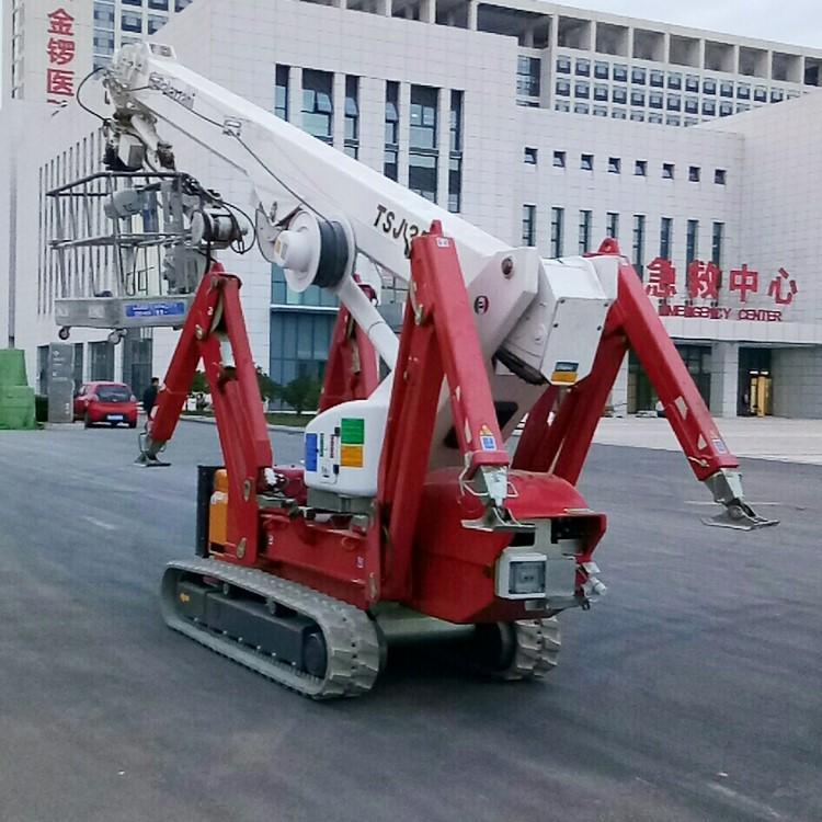 青岛标准型升降平台租赁 Palazzani帕拉沙尼TZX250蜘蛛式高空车 轻型升降机出租示例图6
