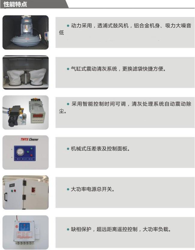 磨床粉尘吸尘器 车间机械设备工业集尘器 烟雾除尘器示例图32