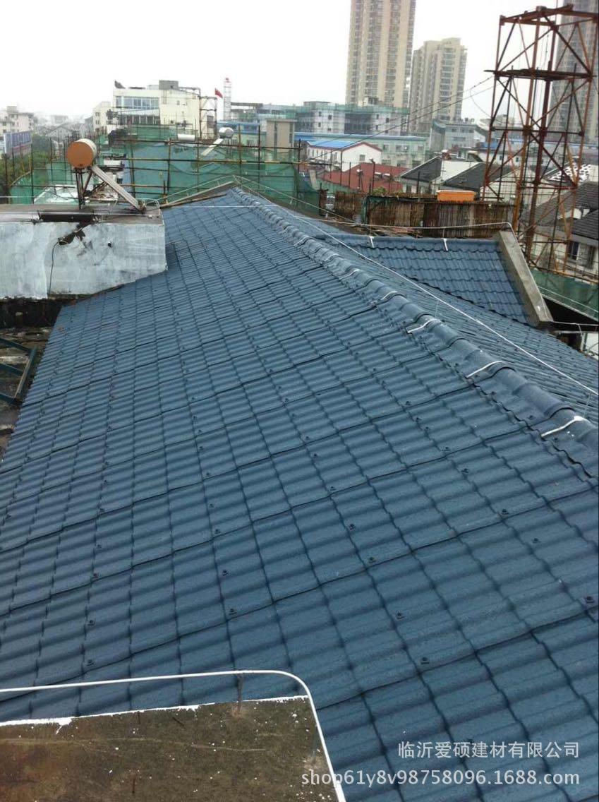 廠家直銷 東營合成樹脂瓦 平改坡裝飾瓦 屋頂瓦 別墅瓦示例圖12