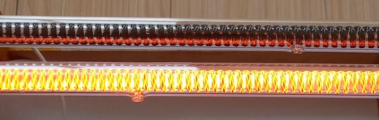 碳纤维加热管启动后照片.jpg