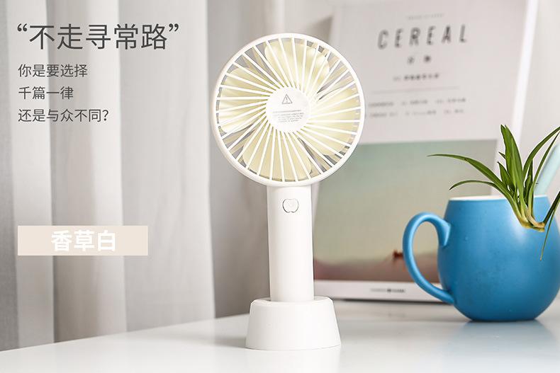 厂家直销夏季手动迷你风扇静音大风力便携学生USB手持风扇充电款示例图4