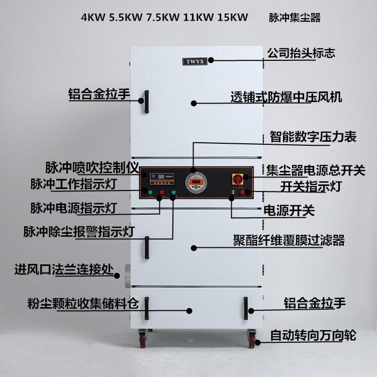 磨床粉尘吸尘器 车间机械设备工业集尘器 烟雾除尘器示例图35
