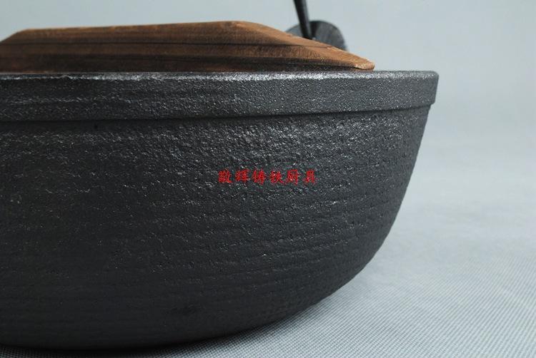 日式寿喜锅铸铁汤煲手工铸造炖锅汤锅炖煲老式日本锅鑄鐵鍋定做示例图7