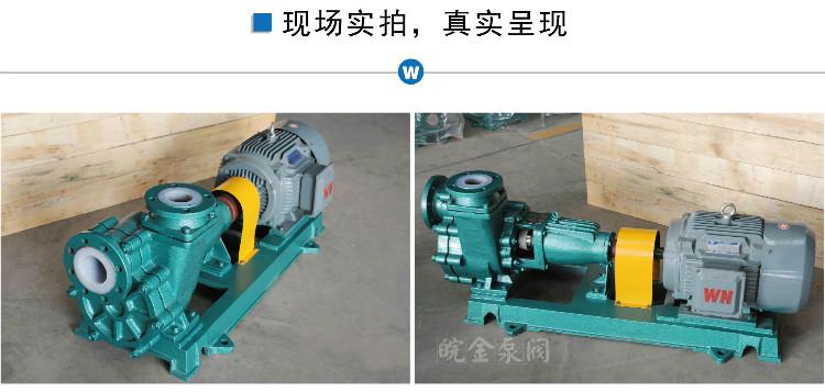 皖金40FZB-30自吸泵,化工襯氟自吸泵,耐酸堿離心自吸泵,臥式自吸泵原理價格示例圖16