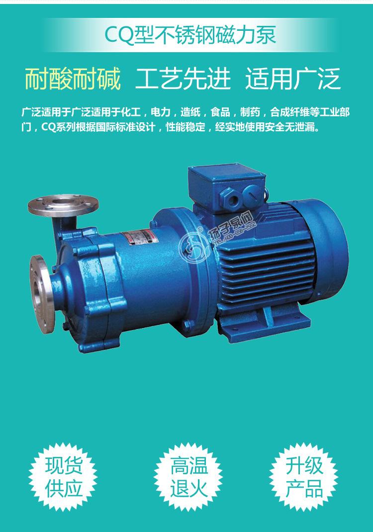 厂家热销 CQ系列耐腐蚀磁力泵 65CQ-32 不锈钢磁力泵 304材质示例图3