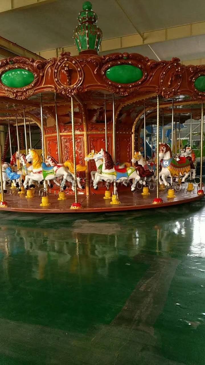 儿童游乐场游乐设备西瓜飞椅_16座旋转水果飞椅_郑州大洋水果旋风示例图30