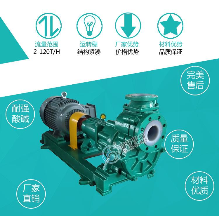 80FZB-45L氟塑料自吸泵 高温衬氟自吸泵 耐腐蚀耐酸碱衬塑自吸泵示例图2