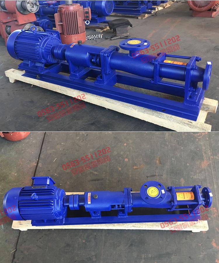 卧式螺杆泵规格,品牌高温螺杆泵,G30型系列单螺杆污泥泵,单螺杆泵厂家示例图17