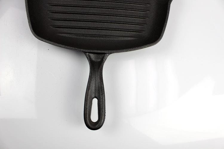 加大铸铁牛排煎锅条纹锅加厚家用电磁炉不粘锅平底锅鑄鐵鍋定做示例图32