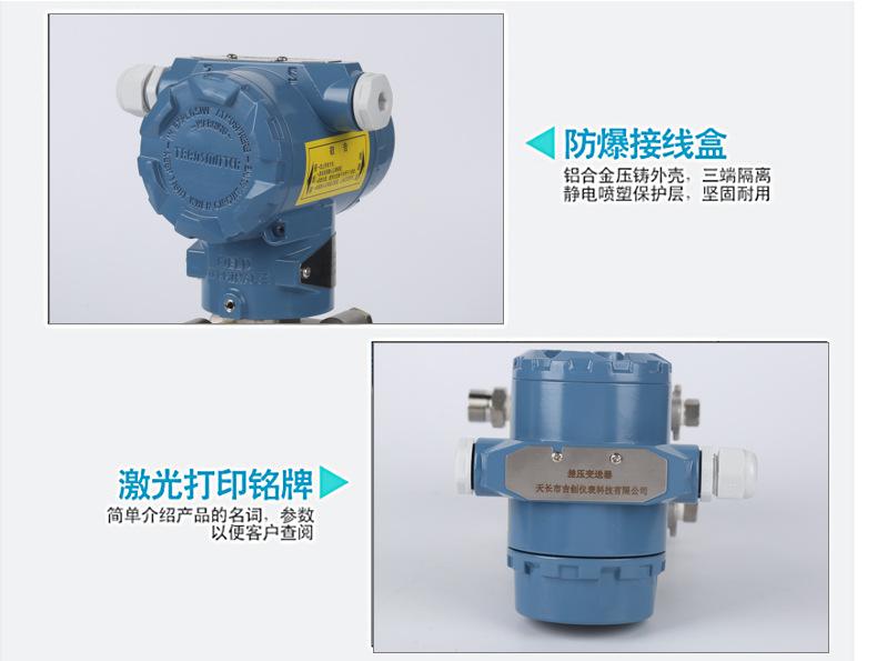 3051DPGP电容式传感器微差智能压差变送器 气压变送器高温差压示例图2