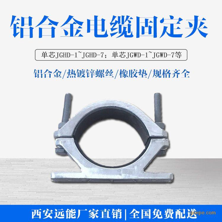 三芯高压复合电缆抱箍,铝合金电缆夹具,半导电电缆夹具厂家示例图5