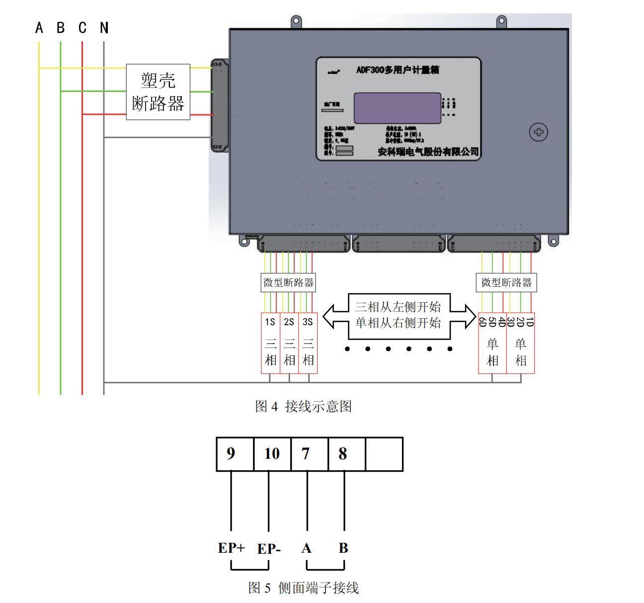 园区运维售电平台 安科瑞ADF300L-I-12D 多用户电能计量箱 防窃电计量示例图8