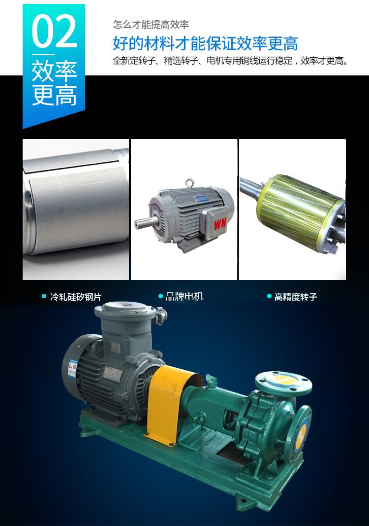皖金大流量清水泵,清水泵規格型號,is臥式水泵,防腐管道泵,鑄鐵泵型號示例圖8