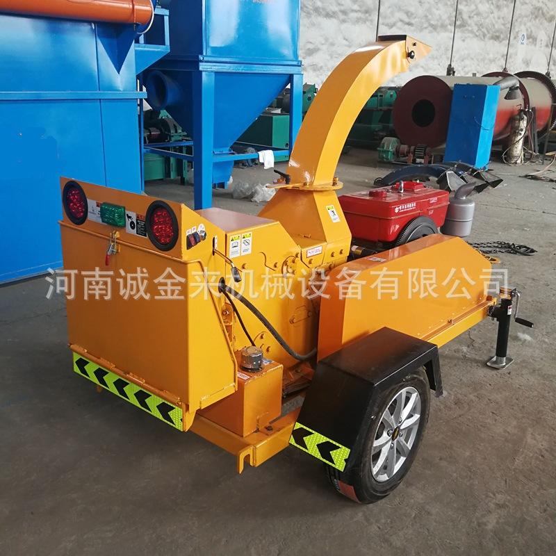 移动式树枝粉碎机 可移动可固定作业 柴油动力坚固耐用示例图6