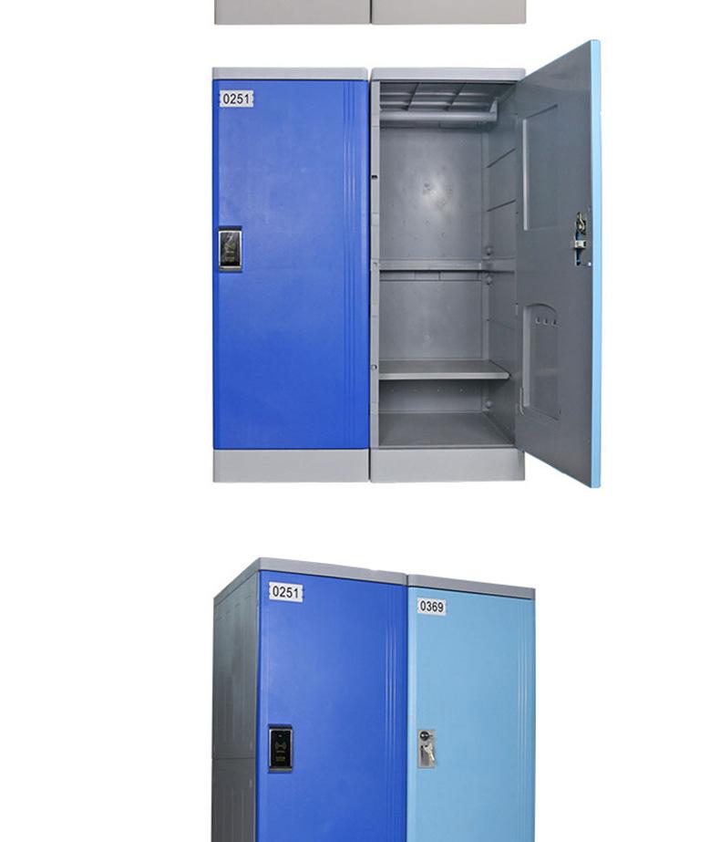 浴室柜abs更衣柜游泳馆酒店员工塑料更衣柜防生锈储物柜厂家直销示例图8
