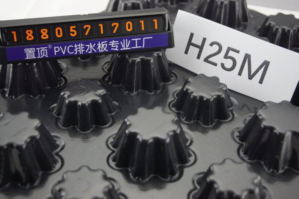 置顶车库排水板 PVC 规格齐全 生产厂家直销示例图2