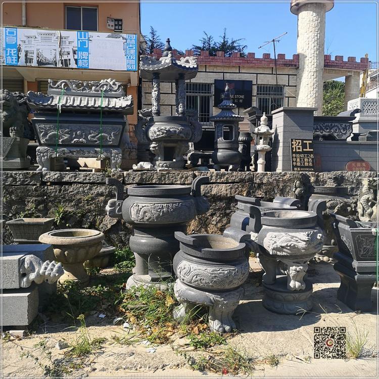 厂家批发 石雕香炉 龙图案香炉 寺庙香炉 墓地香炉厂家直销示例图14