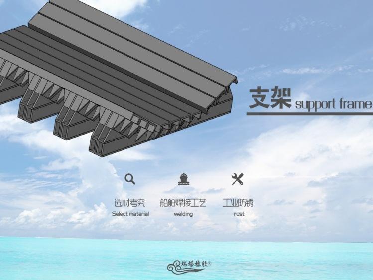 缓冲床在带式输送机上的应用 防物料洒落缓冲床示例图7