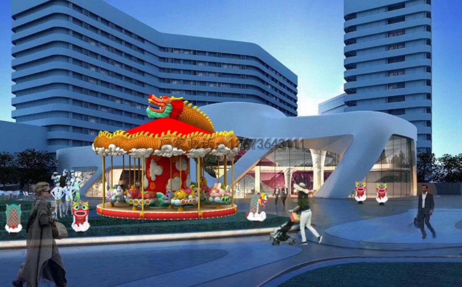2020郑州大洋游乐设备8臂桑巴气球 儿童游乐厂家直销24座桑巴气球项目示例图29