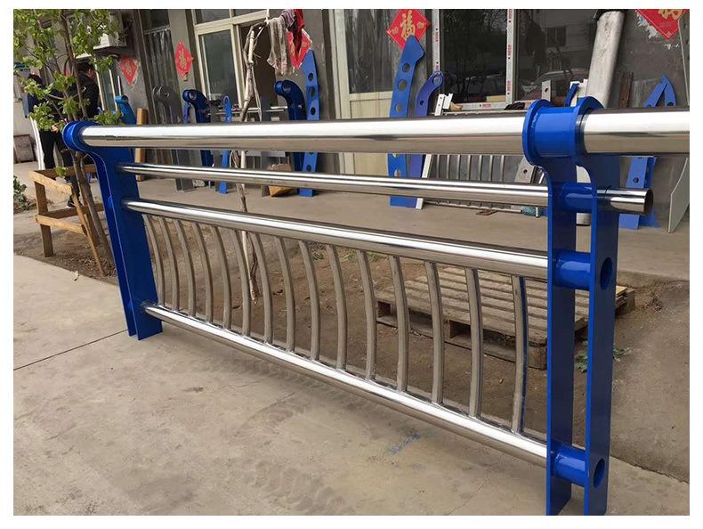 河道护栏 公路护栏 栏杆 高速护栏 河道景观护栏厂家立柱示例图7