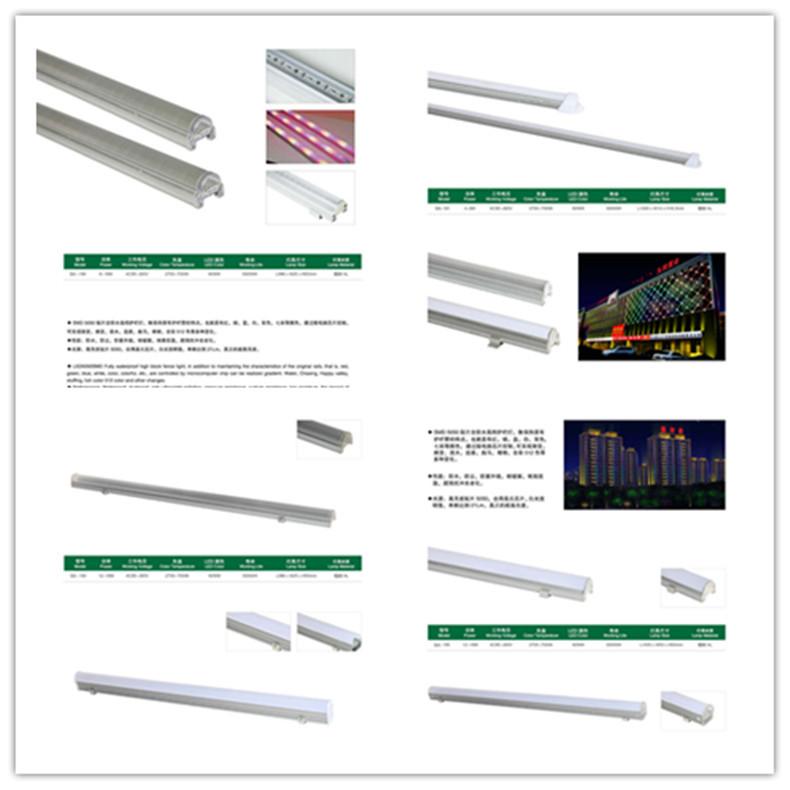 半透明单色轮廓灯 防水LED护栏灯 led数码管护栏管 铝座数码管示例图19