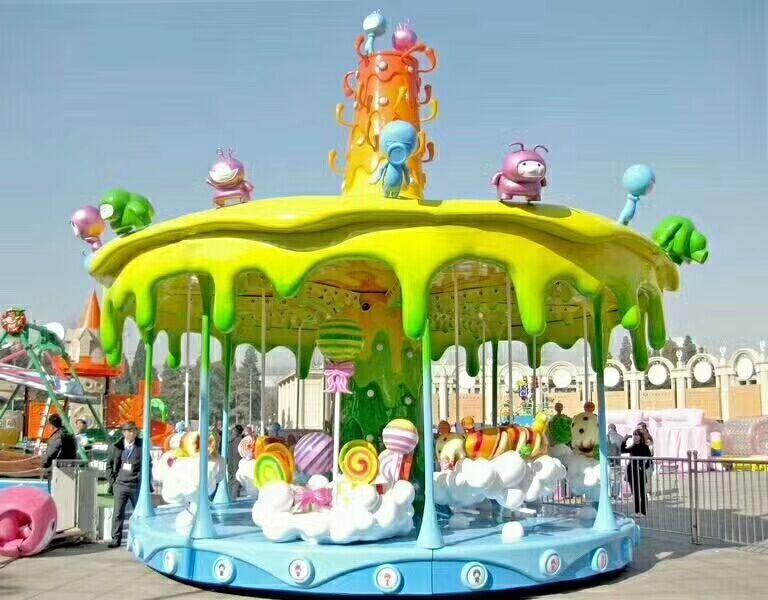 2020儿童游乐场游乐设备16座豪华转马精品推荐旋转木马大洋供应商示例图9