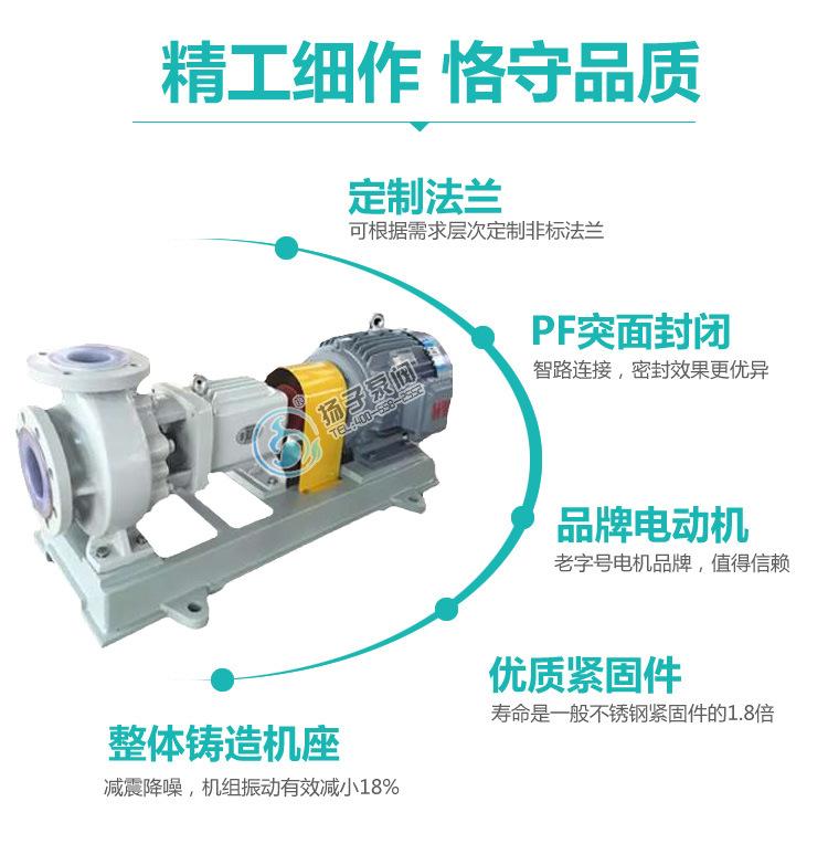 厂家直销IHF80-65-160氟塑料化工离心泵盐酸泵泵浓酸泵厂家示例图11