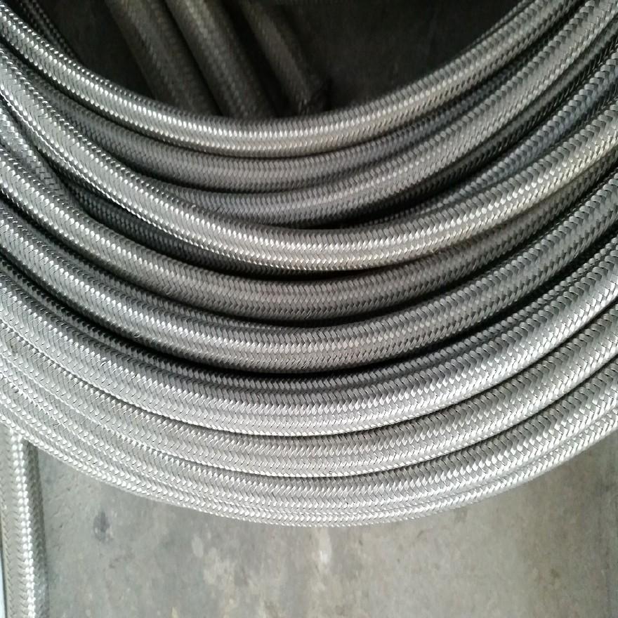厂家直销钢编铁氟龙高温高压软管 铁氟龙高压钢编管示例图1