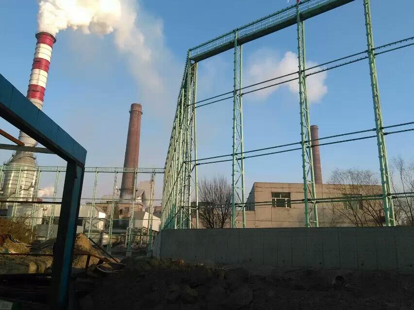 电厂柔性防风抑尘网,热电厂储煤料堆四周围墙用的防风抑尘网示例图2