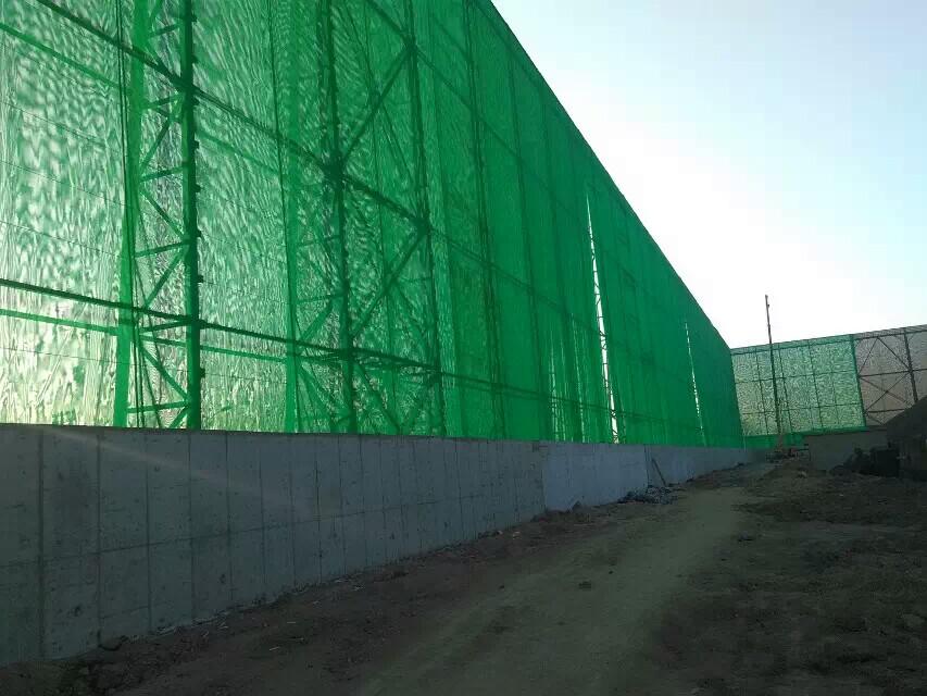 电厂柔性防风抑尘网,热电厂储煤料堆四周围墙用的防风抑尘网示例图3