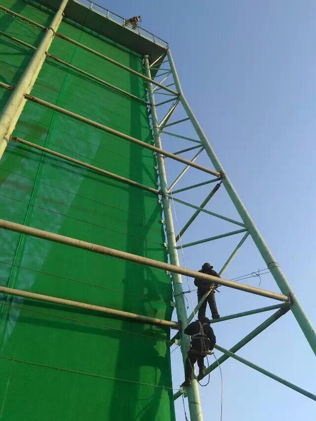 电厂柔性防风抑尘网,热电厂储煤料堆四周围墙用的防风抑尘网示例图4
