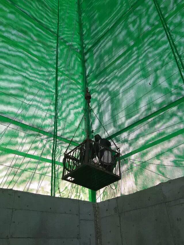 电厂柔性防风抑尘网,热电厂储煤料堆四周围墙用的防风抑尘网示例图5