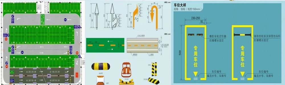 车库平面图设计及交通标示.jpg