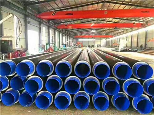 沧州热水供暖用硬质聚氨酯泡沫塑料保温钢管 聚異氰尿酸脂保温管示例图7