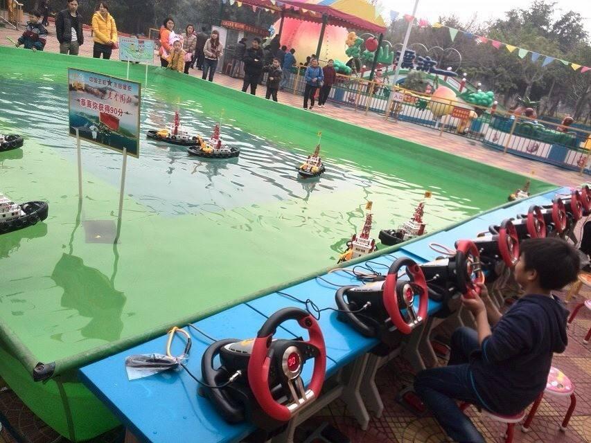 方向盘遥控船水上游乐设备,厂家直销,儿童方向盘遥控船游乐设施示例图14
