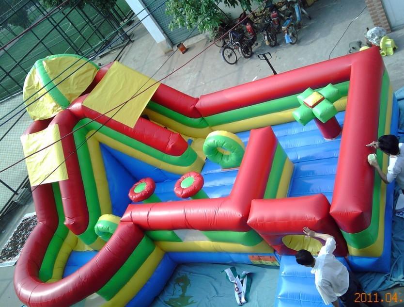 充气大滑梯儿童游乐设备 造型新颖环保 卡通充气滑梯郑州大洋厂家游艺设施示例图9