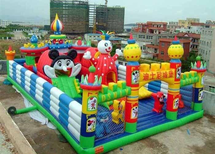 充气大滑梯儿童游乐设备 造型新颖环保 卡通充气滑梯郑州大洋厂家游艺设施示例图14