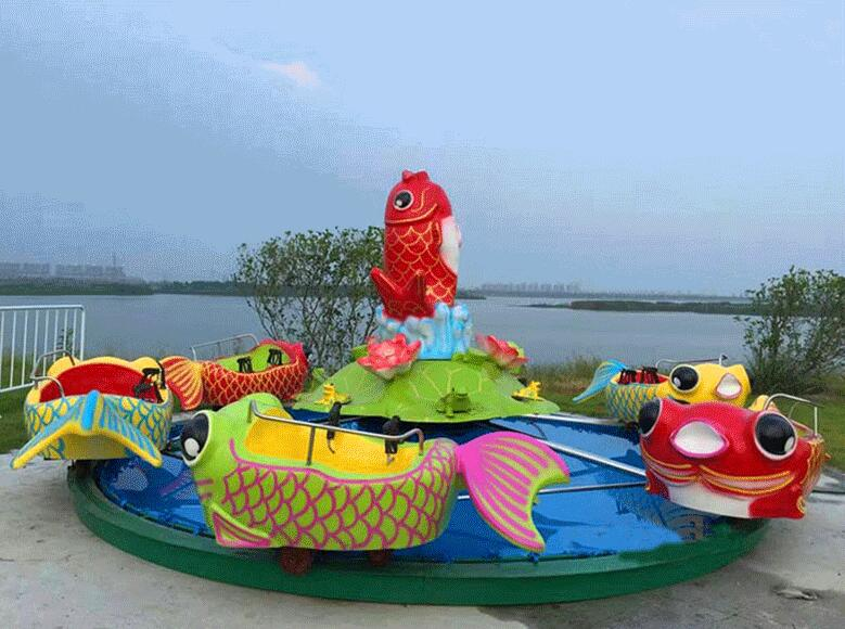 广场鲤鱼跳龙门儿童游乐设备 现货供应 郑州大洋鲤鱼跳龙门厂家示例图4