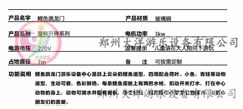 广场鲤鱼跳龙门儿童游乐设备 现货供应 郑州顺航鲤鱼跳龙门厂家示例图8