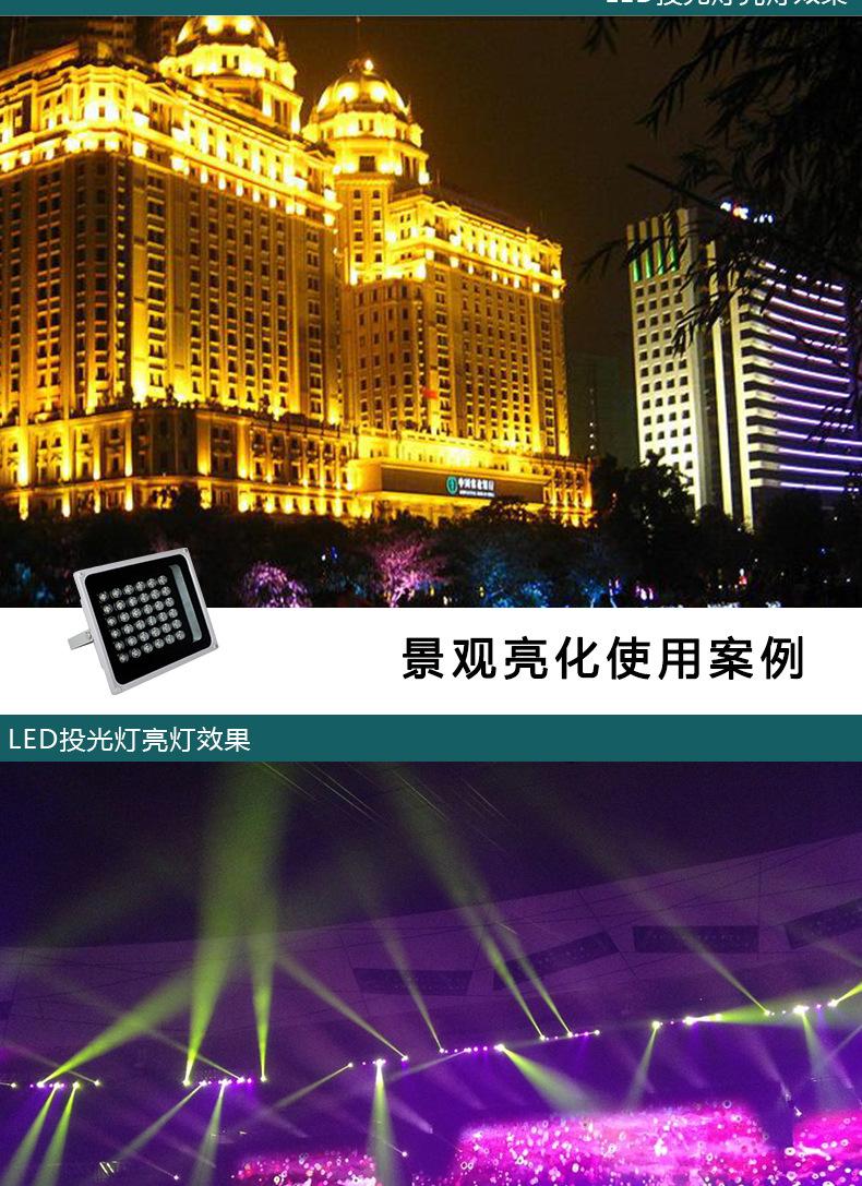 厂家批发户外照明防水 LED 50W大功率集成投光灯 LED集成投射灯示例图6