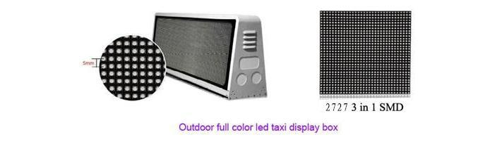 4G WiFi集群控制taxi display的士车顶屏双面P5户外全彩LED显示屏示例图5