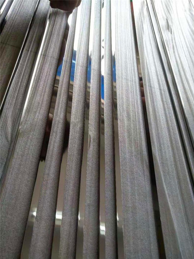 镜面玫瑰金T型条瓷砖收边条嵌入式钛金装饰条软包线条  厂家定制示例图18