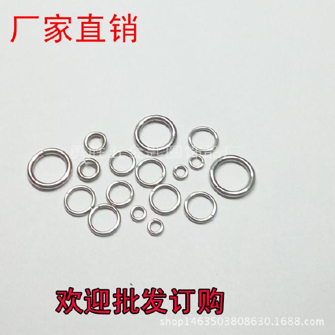 廠家直銷 不銹鋼線割圈 密口圈 鋸口圈 開口圈 鑰匙環 歡迎訂購