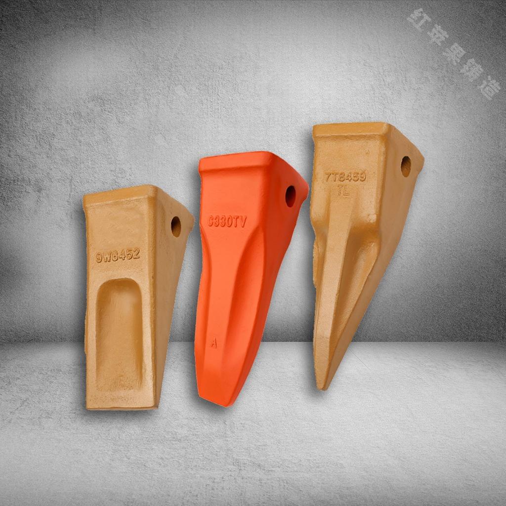 卡特330斗齒 巖石齒 土方齒 虎牙齒 挖掘機配件 紅蘋果鑄造