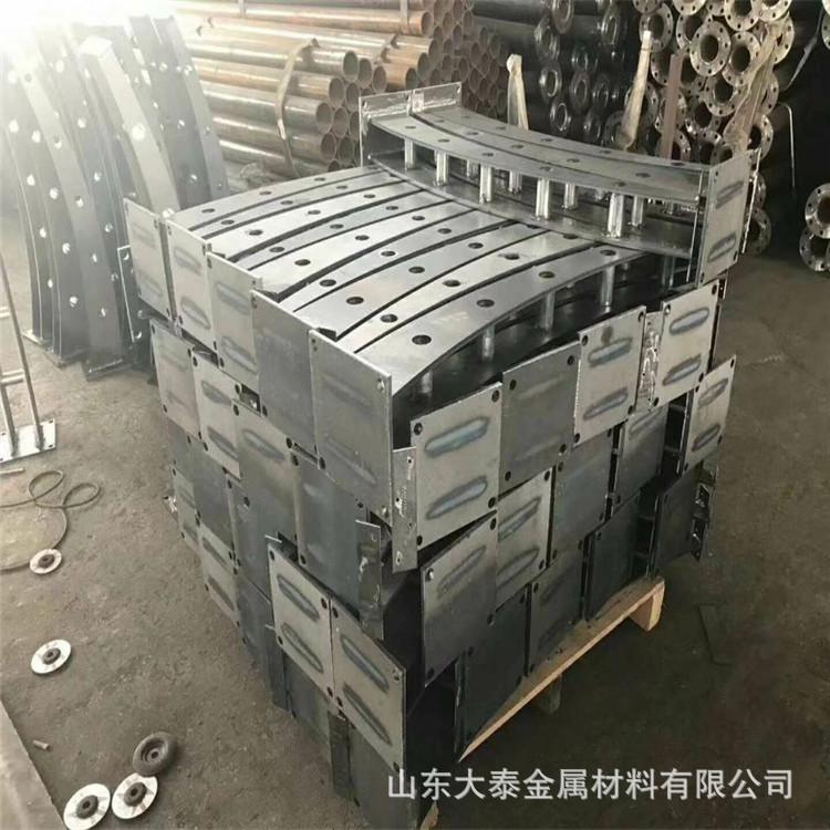 護欄鋼板立柱 不銹鋼復合管護欄鋼板立柱 防撞護欄鋼板立柱加工示例圖10