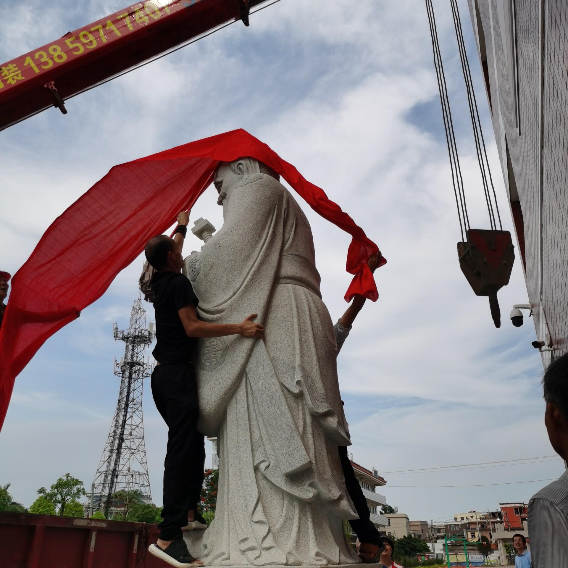 深圳石雕孔子像 孔子雕像 惠安石雕示例图5