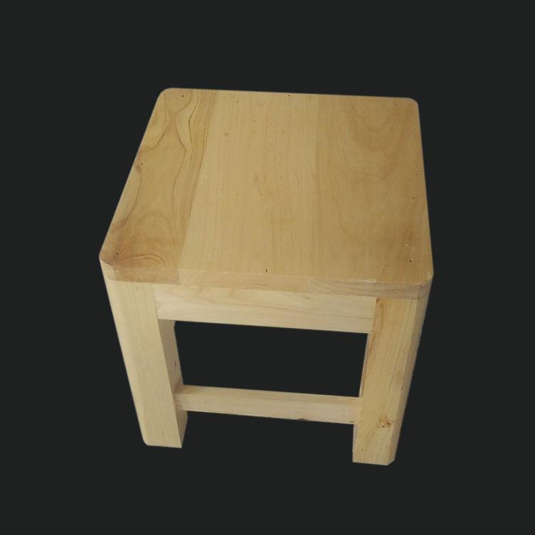 鑫繁木业直销柏木家用小方凳适用凳子实木幼儿园儿童小板凳木凳示例图1